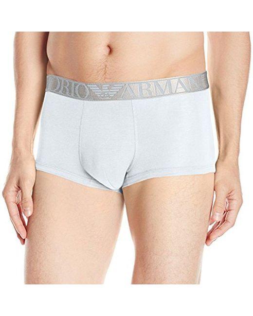 Emporio Armani - White Pima Cotton Trunk for Men - Lyst