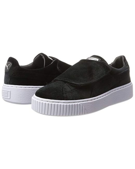 2d364755ad2 PUMA. Black Women s Basket Platform Strap Velvet Rope Casual Trainers From Finish  Line