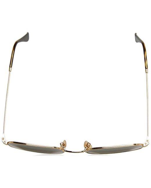 3d0367971 Hombre Ray-Ban Gafas de sol de lente plana hexagonal en oro verde RB3548N  001 51