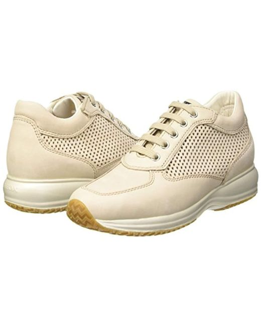 319eaddcdfd0eb Geox D Happy A Low-top Sneakers in Natural - Save 15% - Lyst