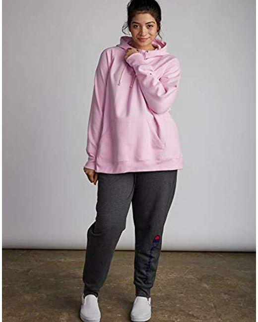 634c3c2be130c ... Lyst Champion - Gray Plus Size Fleece Pullover Hoodie