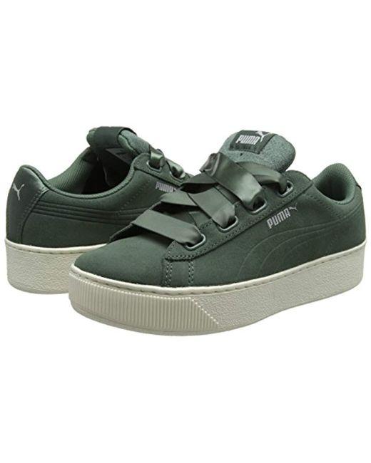 ebab0647fa00 PUMA Vikky Platform Ribbon S Low-top Sneakers in Green - Save 59% - Lyst