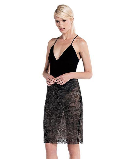 StyleStalker - Loreto V Neck Bodysuit In Black - Lyst