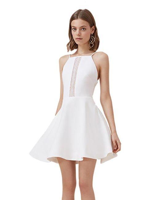 Keepsake - White Keepsake Do It Right Mini Dress In Ivory - Lyst
