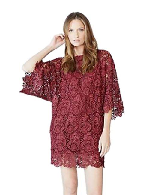 Blaque Label   Purple Lace Mini Dress In Wine   Lyst