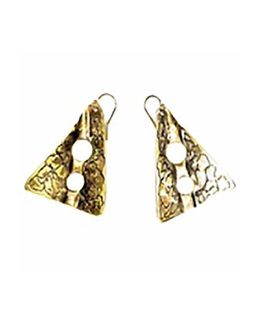 Sibilla G Jewelry | Metallic Sibilla G Oxidized Brass Gold Tone Earrings | Lyst