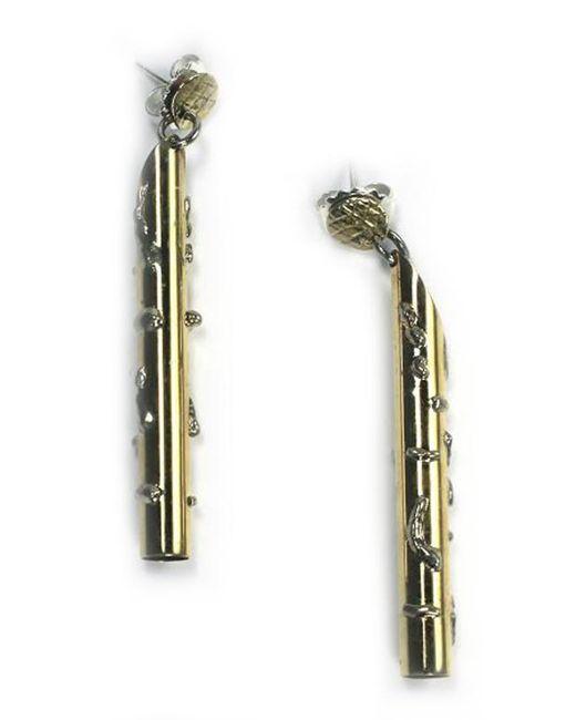 Sibilla G Jewelry | Metallic Sibilla G Atlantis Golden Thunderbolt Fashion Earrings | Lyst