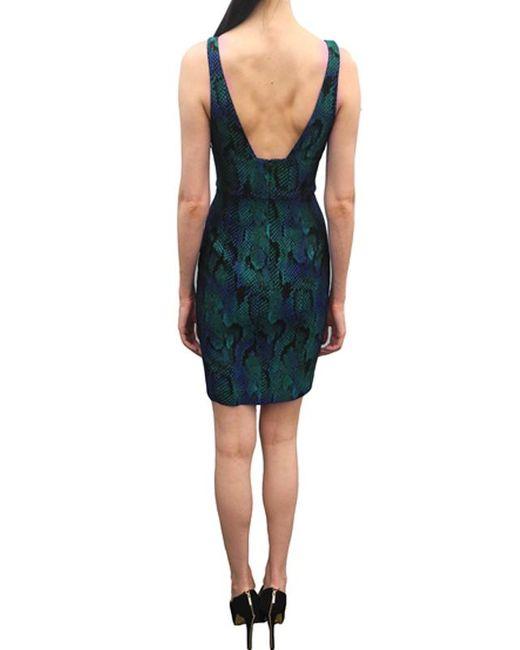 Jay Godfrey | Blue Deep V Python Dress | Lyst