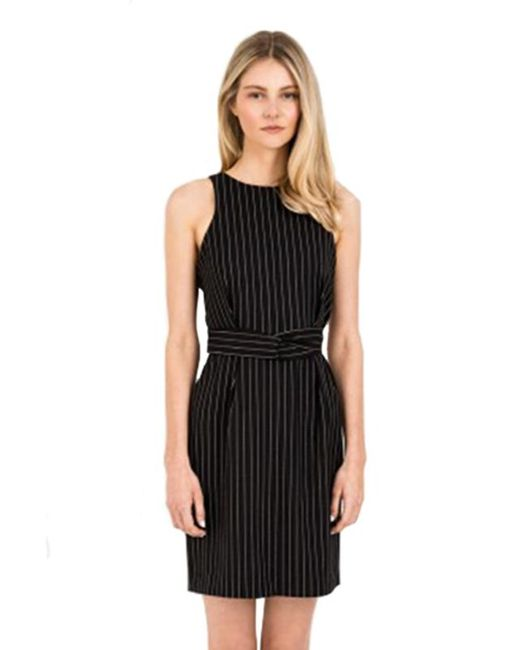 Finders Keepers | As You Are Twist Dress In Black Pinstripe | Lyst