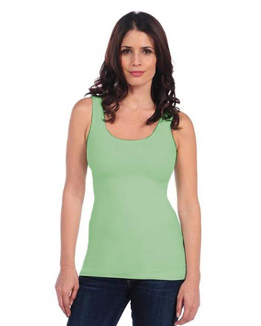 Tees by Tina - Green Smooth Tank In Celery - Lyst