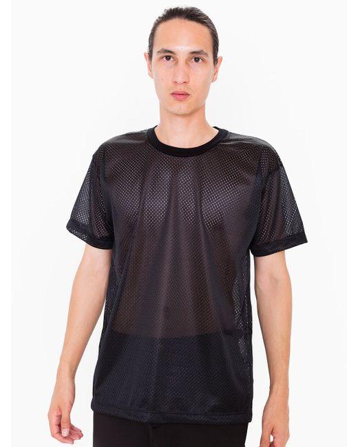 American apparel poly mesh athletic tee in black for men for American apparel mesh shirt