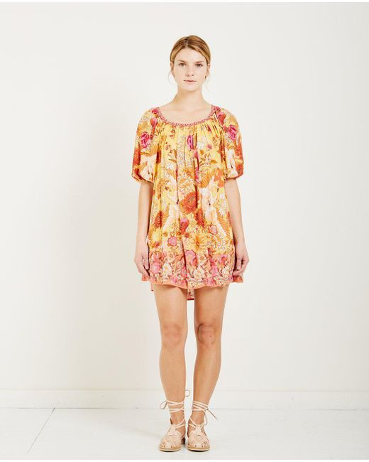 Spell & The Gypsy Collective - Orange Siren Song Smock Dress Marigold - Lyst