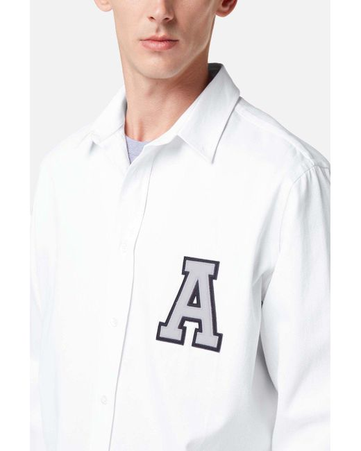 AMI - White A Patch Shirt for Men - Lyst