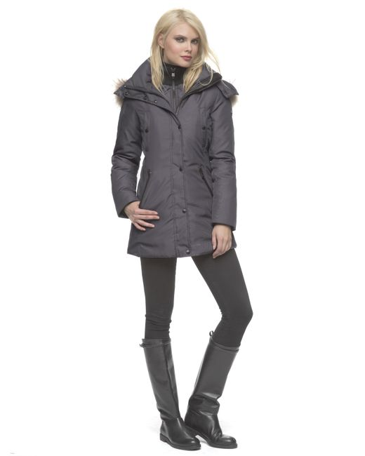 Andrew Marc | Gray Sydney Water-Resistant Parka Jacket  | Lyst