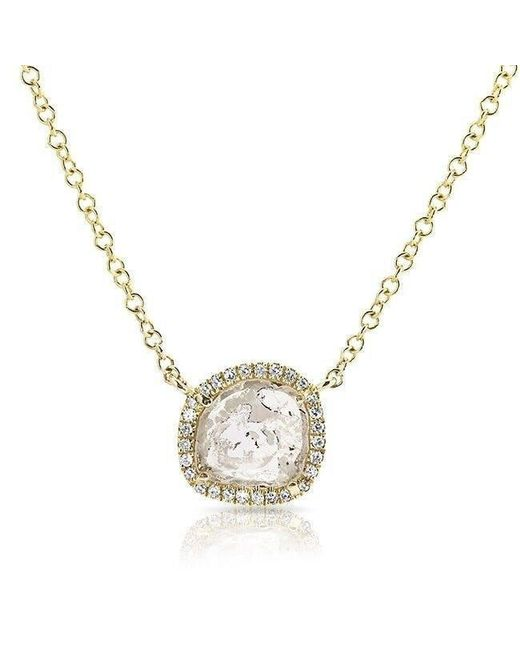 Anne Sisteron - Metallic 14kt Yellow Gold Diamond Slice Necklace - Lyst