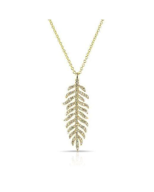 Anne Sisteron - Metallic 14kt Yellow Gold Diamond Palm Necklace - Lyst