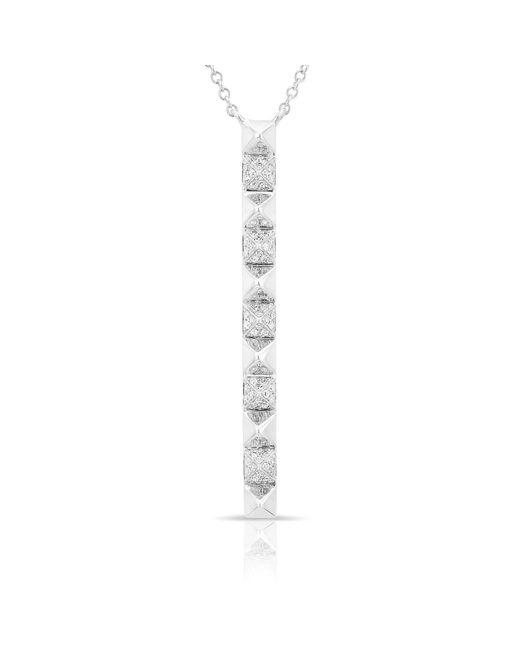 Anne Sisteron - Metallic 14kt White Gold Diamond Long Bar Necklace - Lyst