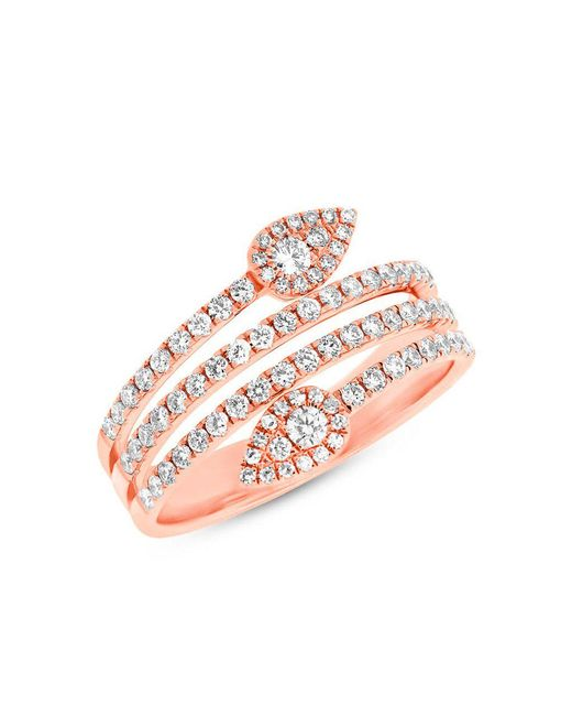 Anne Sisteron - Metallic 14kt Rose Gold Diamond Viper Ring - Lyst