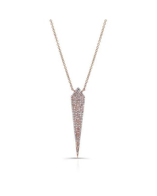 Anne Sisteron | Metallic 14kt Rose Gold Diamond Spear Necklace | Lyst