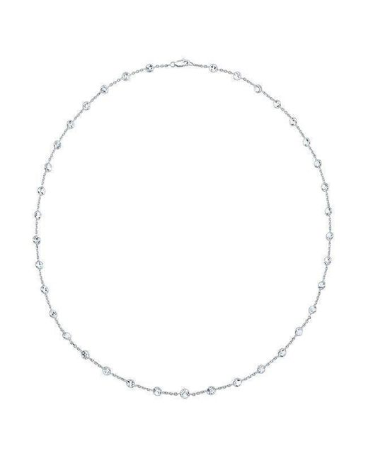 "Anne Sisteron - Multicolor 14kt White Gold Precious Topaz 40"" Necklace - Lyst"