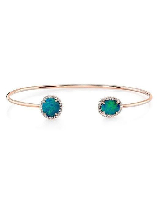 Anne Sisteron - Multicolor 14kt Rose Gold Opal Diamond Cuff - Lyst