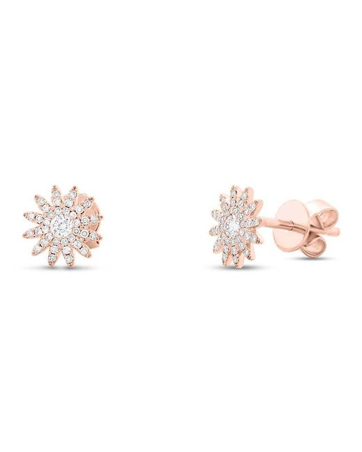 Anne Sisteron | Metallic 14kt Rose Gold Diamond Starburst Stud Earrings | Lyst