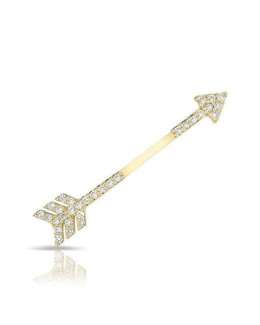Anne Sisteron - Metallic 14kt Yellow Gold Diamond Open Arrow Ear Climber - Lyst