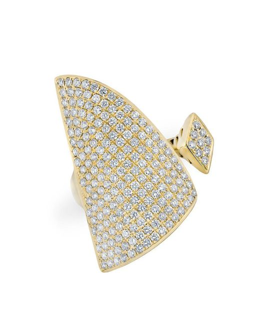 Anne Sisteron - Metallic 14kt Yellow Gold Diamond Valkyrie Ring - Lyst