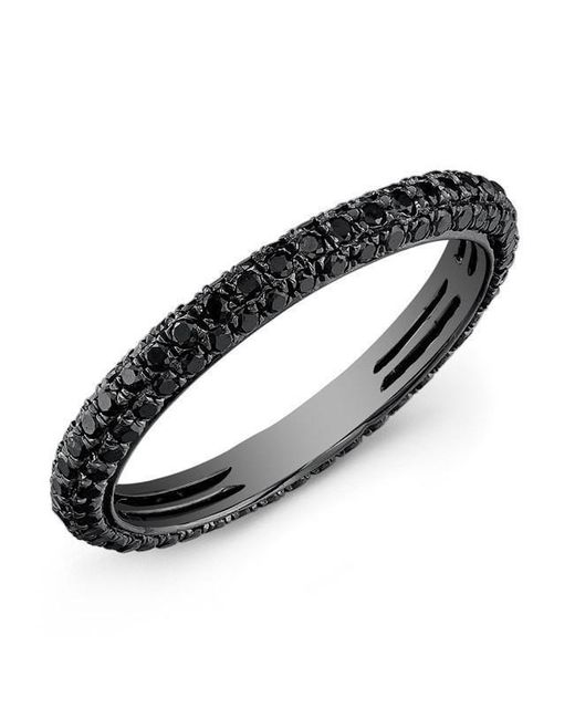 Anne Sisteron - Metallic 14kt Oxidized White Gold Black Diamond Ring - Lyst