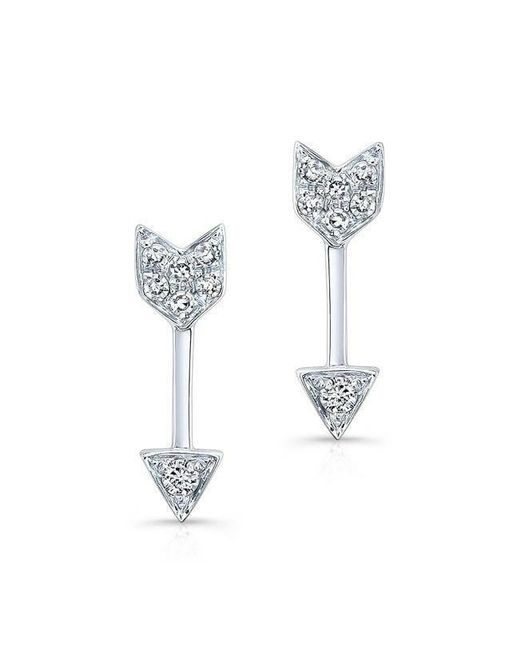 Anne Sisteron - Multicolor 14kt White Gold Diamond Mini Arrow Stud Earrings - Lyst