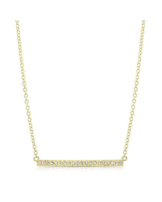 Anne Sisteron - Metallic 14kt Yellow Gold Diamond Bar Necklace - Lyst