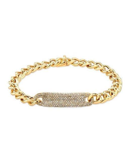 Anne Sisteron - Metallic 14kt Yellow Gold Diamond Luxe Id Bracelet - Lyst