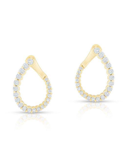 Anne Sisteron - Metallic 14kt Yellow Gold Diamond Merida Earrings - Lyst