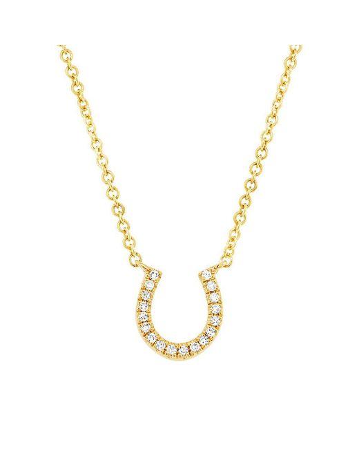Anne Sisteron - Metallic 14kt Yellow Gold Diamond Horseshoe Necklace - Lyst