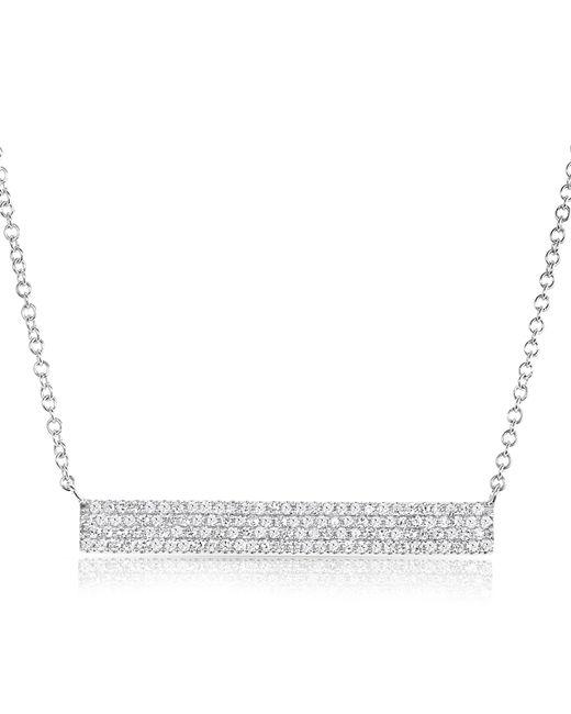 Anne Sisteron | Metallic 14kt White Gold Diamond Long Brick Necklace | Lyst