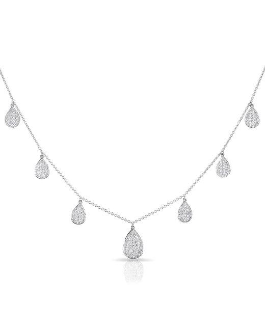 Anne Sisteron | Metallic 14kt White Gold Diamond Medium Tessa Necklace | Lyst