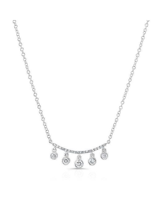 Anne Sisteron | Metallic 14kt White Gold Diamond Spring Necklace | Lyst