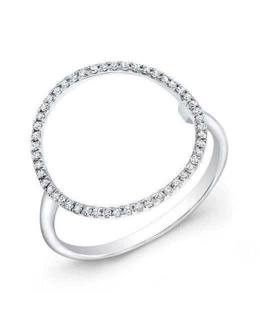 Anne Sisteron - Metallic 14kt White Gold Diamond Open Circle Diamond Ring - Lyst