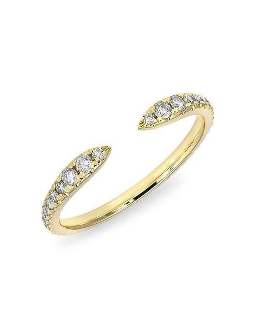 Anne Sisteron - Metallic 14kt Yellow Gold Diamond Pierce Ring - Lyst