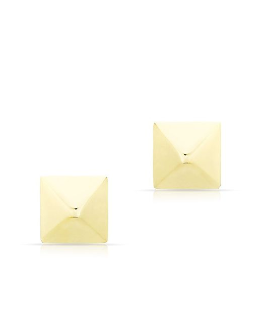 Anne Sisteron - Metallic 14kt Yellow Gold Pyramid Stud Earrings - Lyst