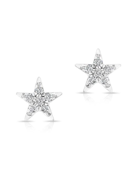 Anne Sisteron - Metallic 14kt White Gold Diamond Bellatrix Star Stud Earrings - Lyst