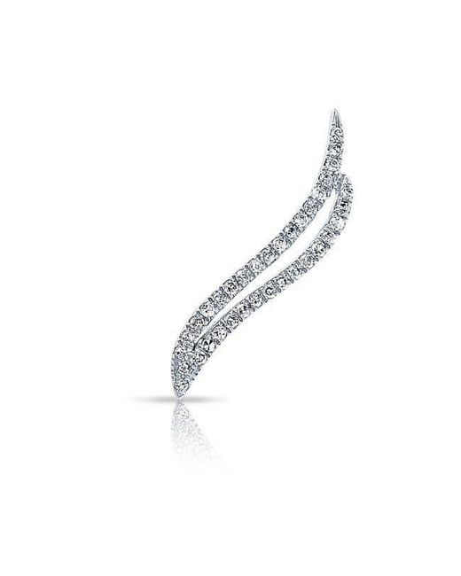 Anne Sisteron - 14kt White Gold Diamond Flame Ear Climber - Lyst