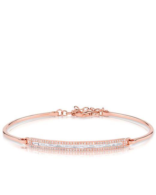 Anne Sisteron | Pink 14kt Rose Gold Olivia Baguette Bracelet | Lyst
