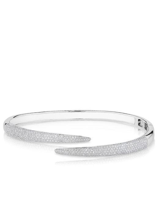Anne Sisteron | 14kt White Gold Diamond Horn Wrap Bangle | Lyst