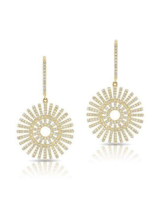 Anne Sisteron - Metallic 14kt Yellow Gold Diamond Sun Rays Wireback Earrings - Lyst