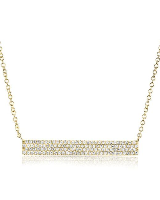 Anne Sisteron - Metallic 14kt Yellow Gold Diamond Long Brick Necklace - Lyst