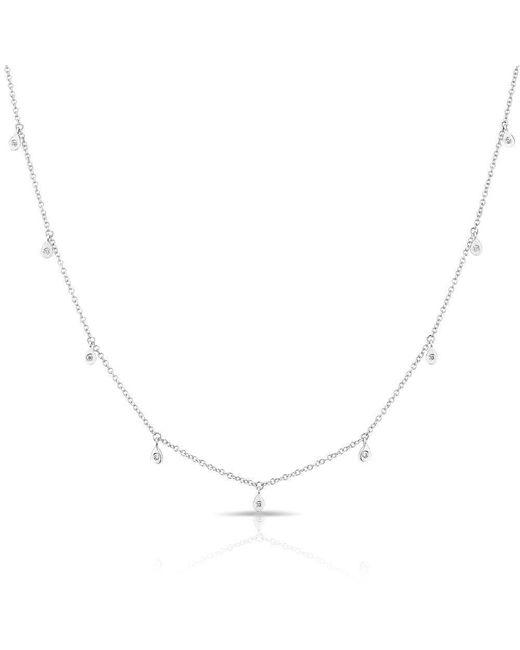 Anne Sisteron - Metallic 14kt White Gold Diamond Droplets Necklace - Lyst
