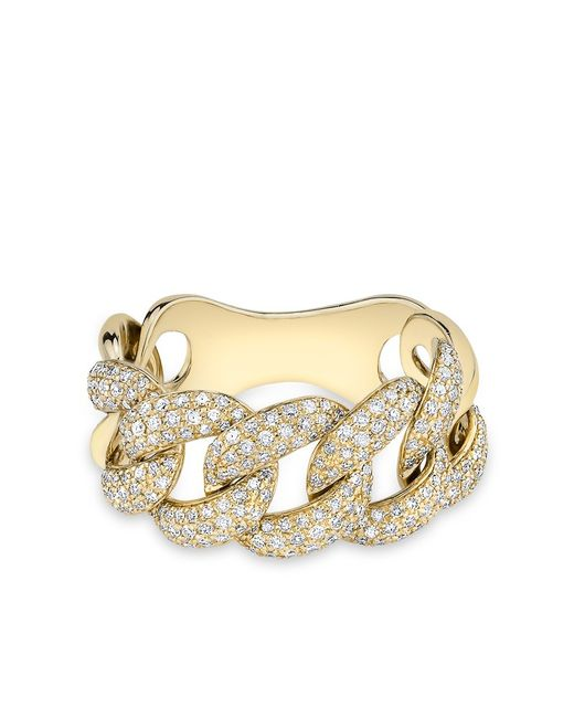 Anne Sisteron - Metallic Yellow Gold Luxe Light Diamond Chain Link Ring - Lyst