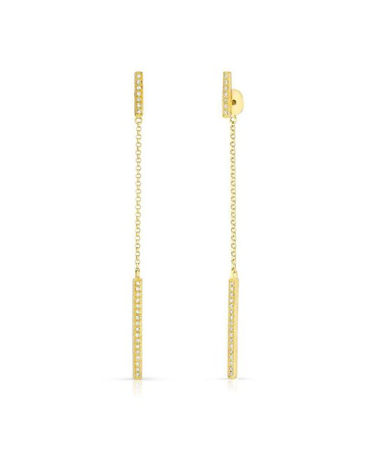 Anne Sisteron - Metallic 14kt Yellow Gold Diamond Sofia Chain Earrings - Lyst