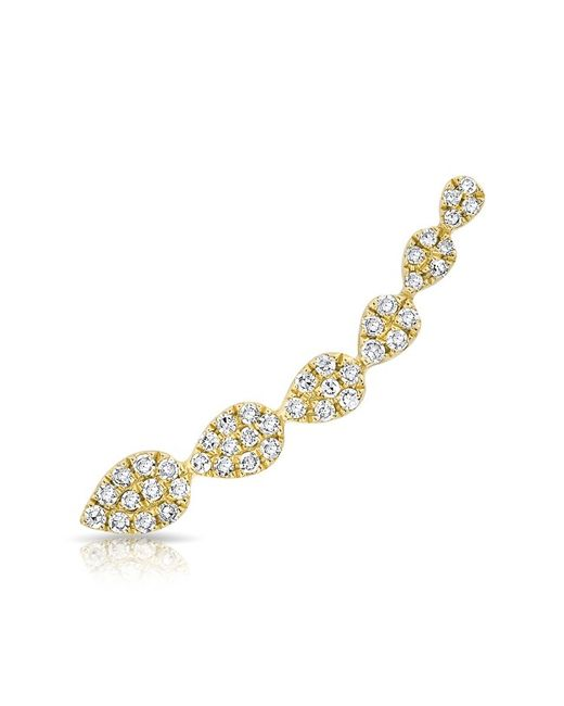 Anne Sisteron | Metallic 14kt Yellow Gold Diamond Tessa Ear Climber | Lyst